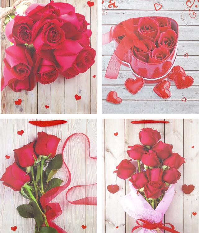 Пакет подар.; 310*400*120мм; 4 дизайни; арт. AG91332(42); ANGEL GIFTS - фото №1